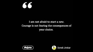 courage without consequences is easy