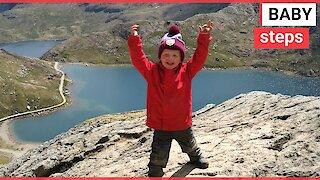 Climber aged THREE completes Three Peaks Challenge