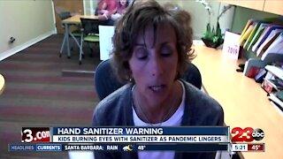 Hand Sanitizer Warning