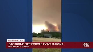 Backbone Fire forces evacuations near Pine and Strawberry