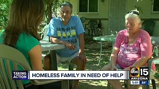 Homeless family looking for a place to call home