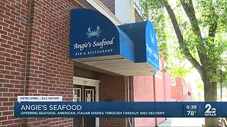 Angie's Seafood offering seafood, American, Italian dishes through takeout and delivery