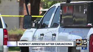Suspect arrested after carjacking