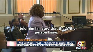 Witness says she saw murder suspect running from scene
