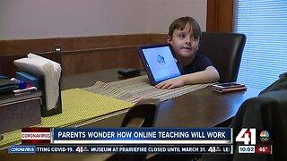 Parents wonder how online teaching will work