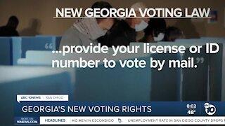 New Georgia voting law