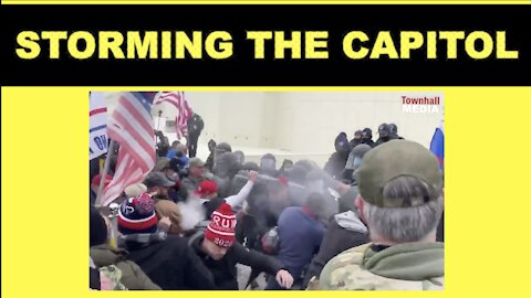 Tear Gas And Broken Windows US Capitol Right Now