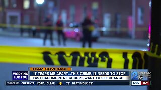 Following rise in crime, East Baltimore neighbors want to see change