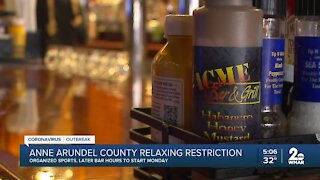 Anne Arundel County relaxing COVID restrictions