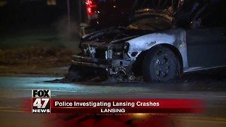 Police investigating Lansing crashes