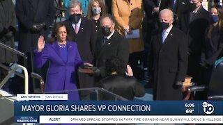 Mayor Gloria shares VP connection