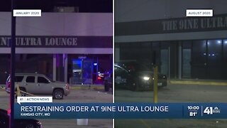 Restraining order at 9ine Ultra Lounge