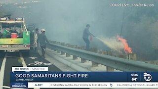 Good Samaritans knock down fire in Carmel Valley