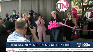 Tina Marie's reopens after fire
