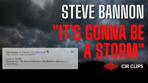 "Steve Bannon: ""It's Gonna Be A Storm, A Gathering Storm"""