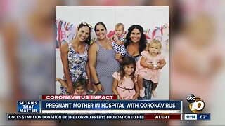 Pregnant mother in hospital with coronavirus