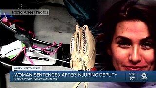 Woman sentenced after injuring deputy