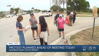 Palm Beach County parents protest school district's mask policy