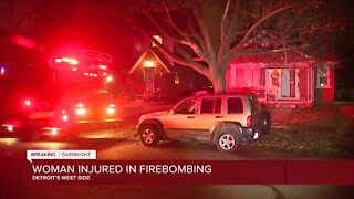 Woman injured in firebombing at home on Detroit's east side