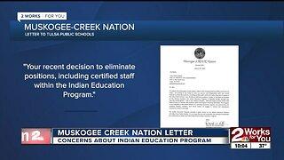 Muskogee Creek Nation letter expresses concerns about Indian Education Program