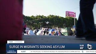 Surge in migrants seeking asylum