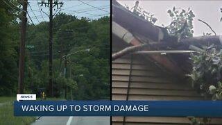 Residents waking up to storm damage Monday