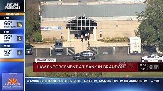 Hillsborough County Sheriff's Office responding to incident at Brandon bank