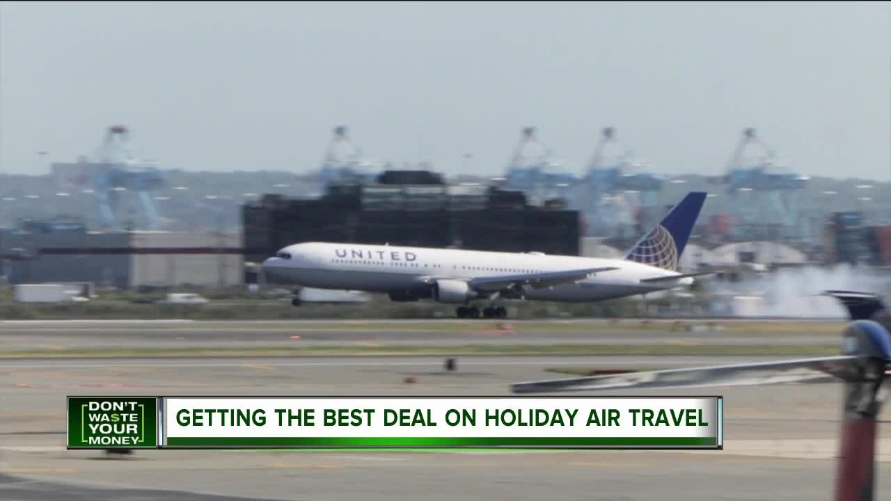 Getting the best deal on holiday air travel