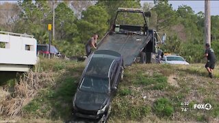 Car pulled from canal in Lehigh Acres