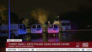Three small kids found dead inside Phoenix home