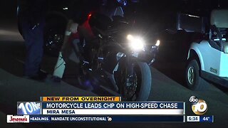 Motorcyclist sought after leading high-speed chase