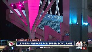 Leaders prepare for Super Bowl fans