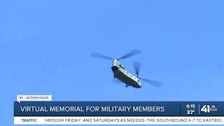 Virtual memorial for military members