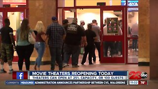 Movie theaters in Kern County reopen Friday