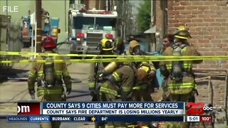 Kern County proposes that nine cities pay more for county fire services