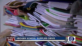 Kroger school supplies drive