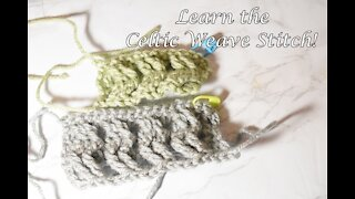 How to Crochet the Celtic Weave Stitch