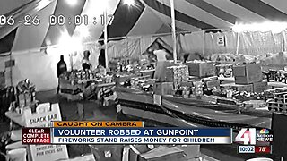 Armed thieves rob fireworks stand that benefits children