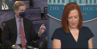 Psaki REFUSES to Say Biden Will Stop LYING About Georgia Election Law