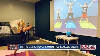 Metro Stars moving gymnastics classes online