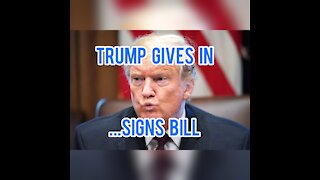President Trump Caved!