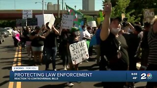 Protecting law enforcement, reaction to controversial bills