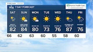 Saturday is warm with chance for scattered storms