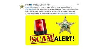 PBSO warns of coronavirus scams