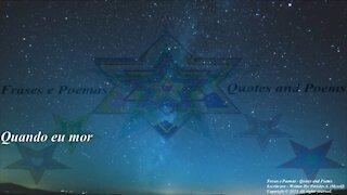 Quando eu morrer, me tornarei uma estrela cadente... [Poesia] [Remake] [Frases e Poemas]