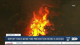 Report Finds More Fire Prevention Work is Needed