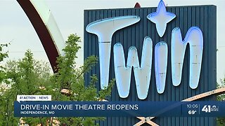 Drive-in movie theatre reopens