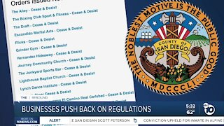 California businesses push back on COVD regulations