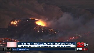 Post Fire has now burned 200 acres