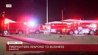 Firefighters respond to Thomas Bus fire near Burlington